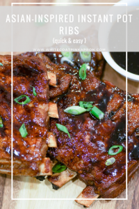 Asian-Inspired Instant Pot Ribs are sticky, sweet, savory, and so easy to make in the Instant Pot. #instantpot #quickdinner #instantpotribs