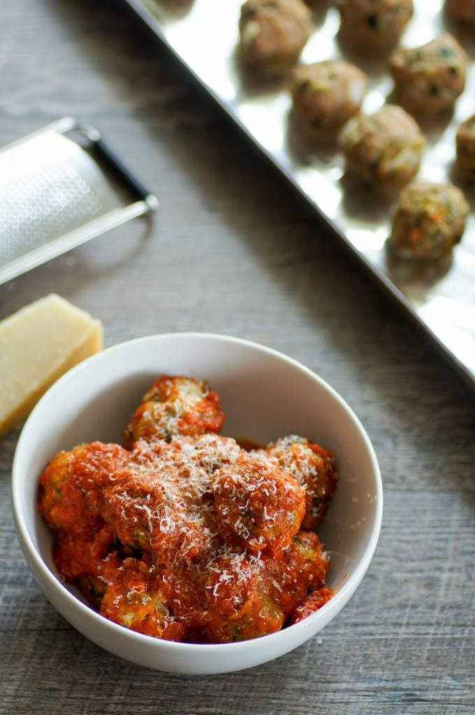 turkey meatballs with sauce