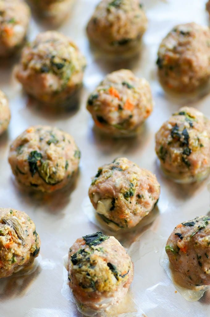turkey meatballs with veggies