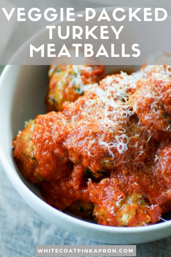 Turkey Meatballs with Veggies are tasty, savory, and so comforting. Since they're packed with veggies, you (and your kids) will love that they're a little bit healthier than traditional meatballs without changing the flavor. #turkeymeatballs #kidfood #hiddenveggies