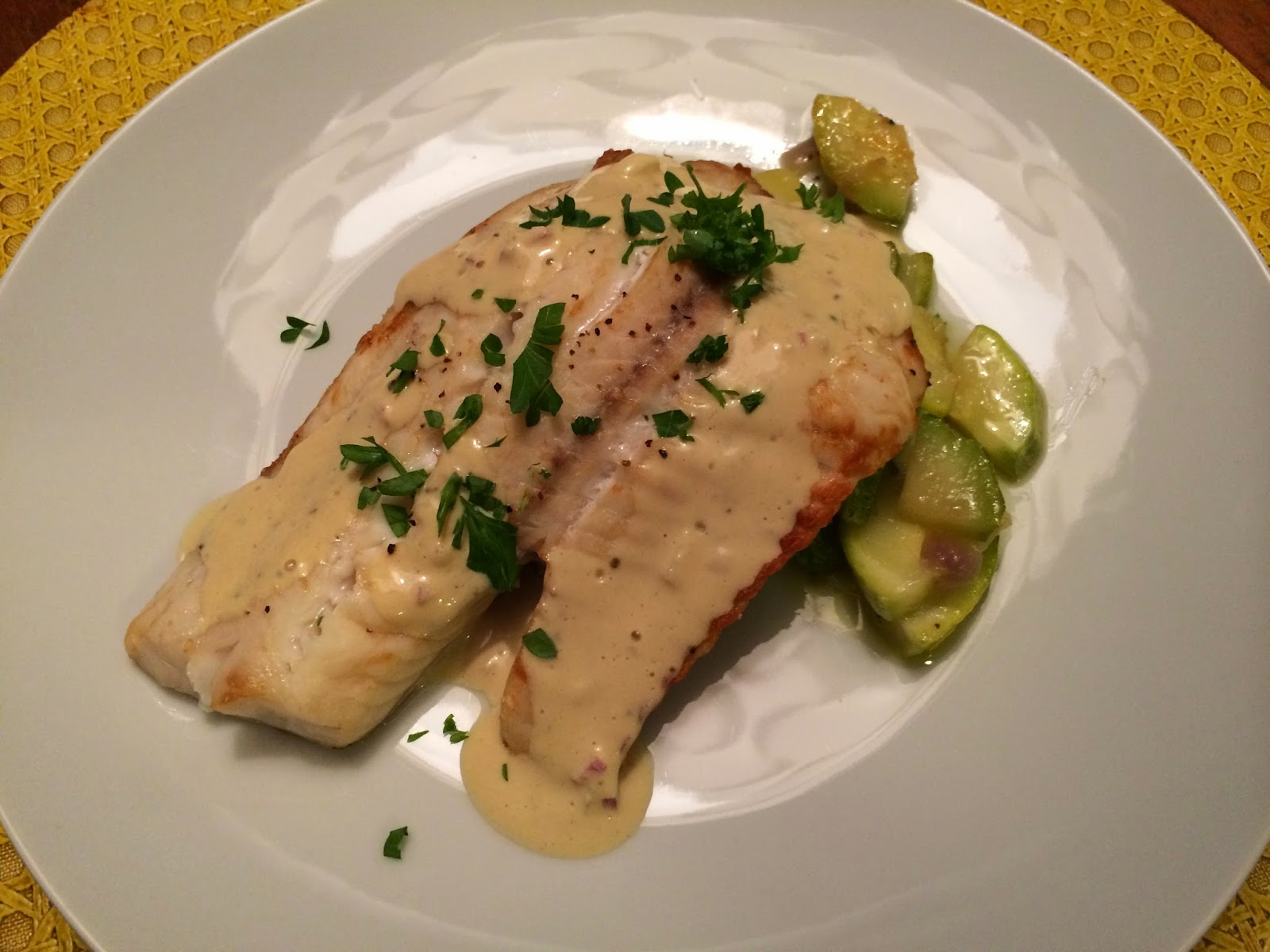 Easy Tilapia with Mustard Cream Sauce