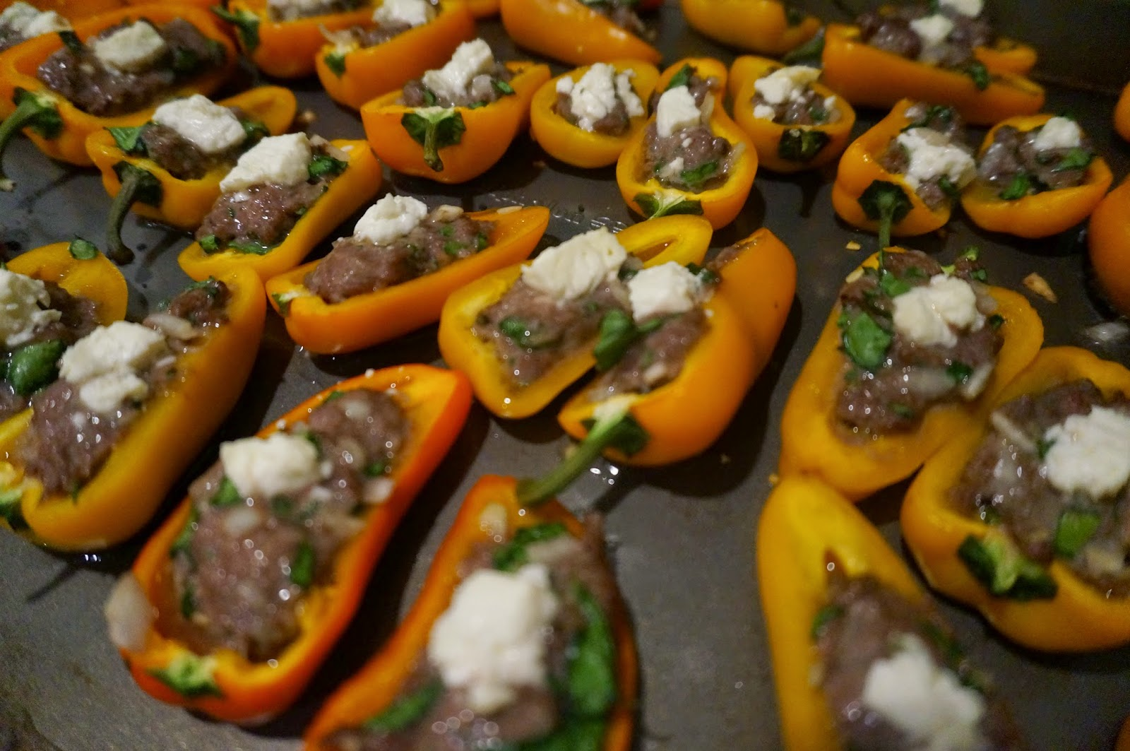 Greek Style Stuffed Mini Peppers