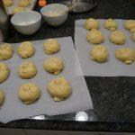 choreg dough on parchment