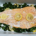 lemon roasted salmon and kale