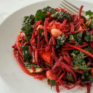 Beet and Carrot Salad with Ginger Dressing