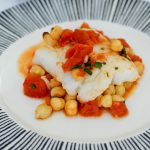 Cod with Chickpeas and Tomatoes