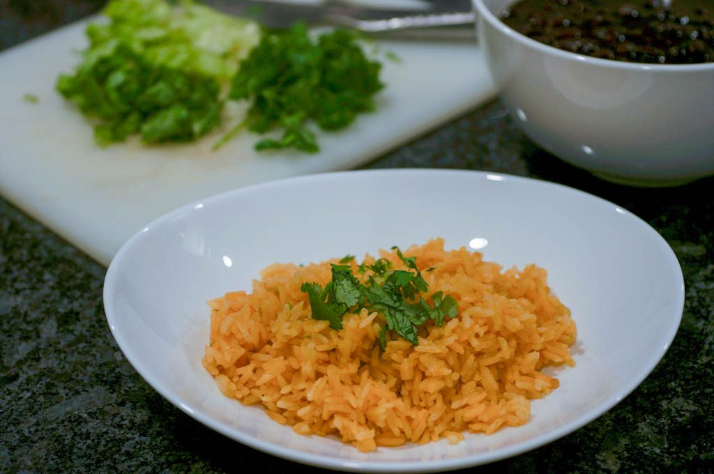 five ingredient Mexican rice, Mexican rice, salsa rice, shortcut Mexican rice