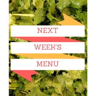 Next Week's Menu: Cilantro, Lime, and Sour Cream
