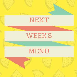 Next Week's Menu: Arugula, Prosciutto, Mozzarella, and Feta