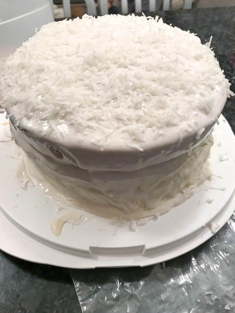 dairy free coconut lemon cake