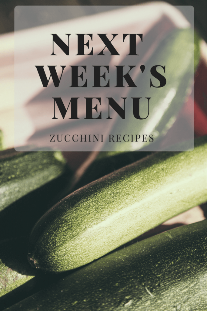 zucchini recipes, recipe roundup, meal plan