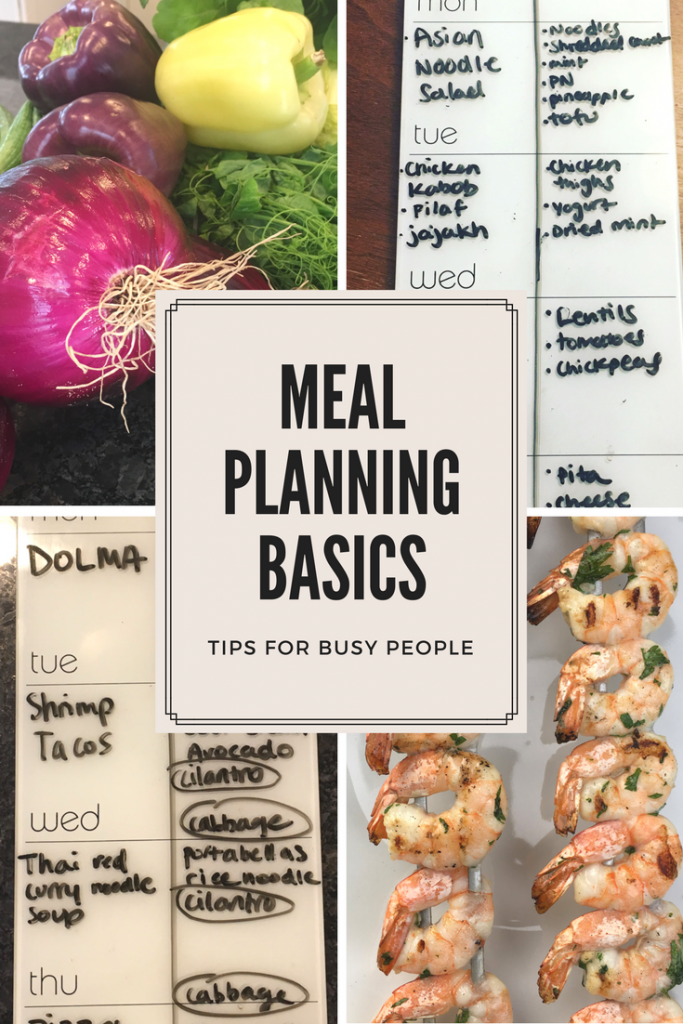 Meal planning basics, meal planning busy people