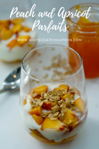 Peach and Apricot Parfaits, Peach Yogurt Parfait, Apricot Jam Parfait