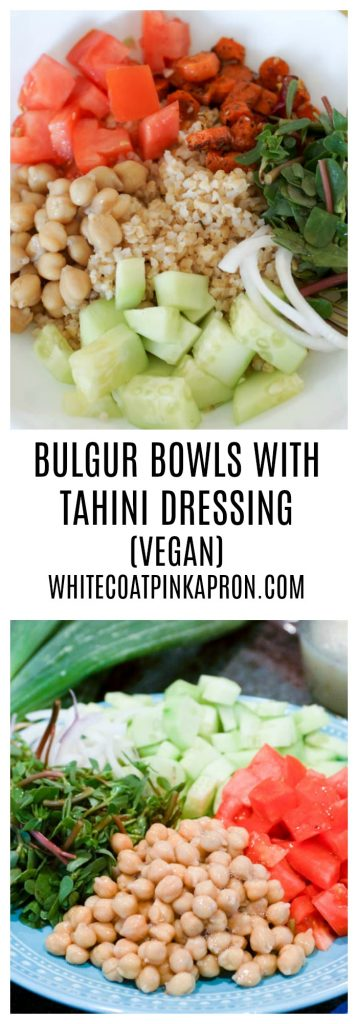 Bulgur Bowl, Tahini Dressing