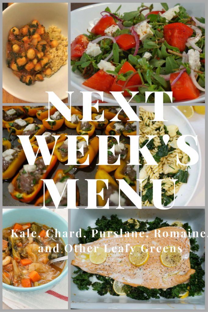 meal planning, leafy greens