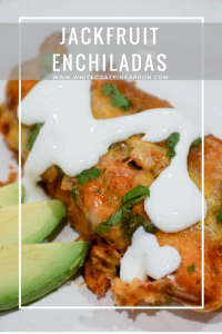 Jackfruit Enchiladas may be vegetarian, but taste just like chicken!