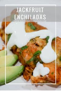 Jackfruit Enchiladas may be vegetarian, but taste just like chicken!