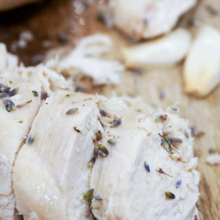 Instant Pot Roasted Chicken with Lavender and Thyme
