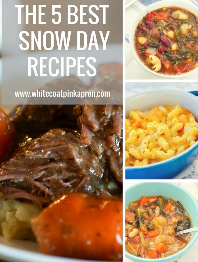 The 5 Best Snow Day Recipes is the perfect collection of recipes to weather the storm. From Instant Pot to soups and stews, this has got you covered! #snowday #soup #stew