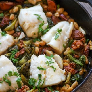 One Pan Cod and Chorizo