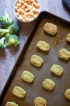 broccoli tots on a sheet pan