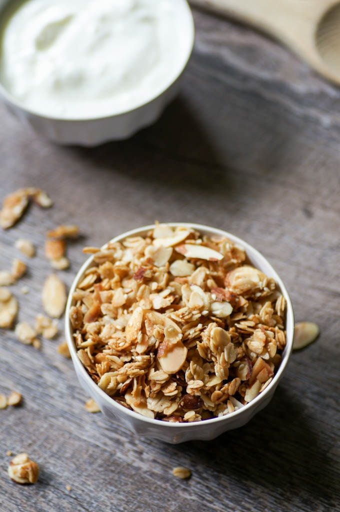 cardamom granola in a bowl