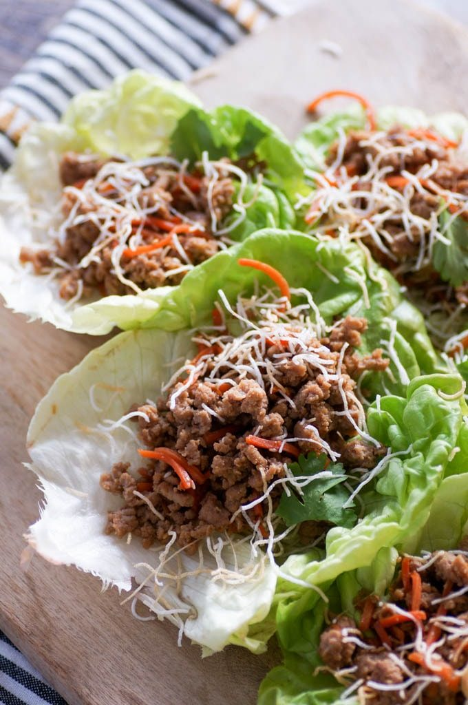 lettuce wraps with ground turkey filling
