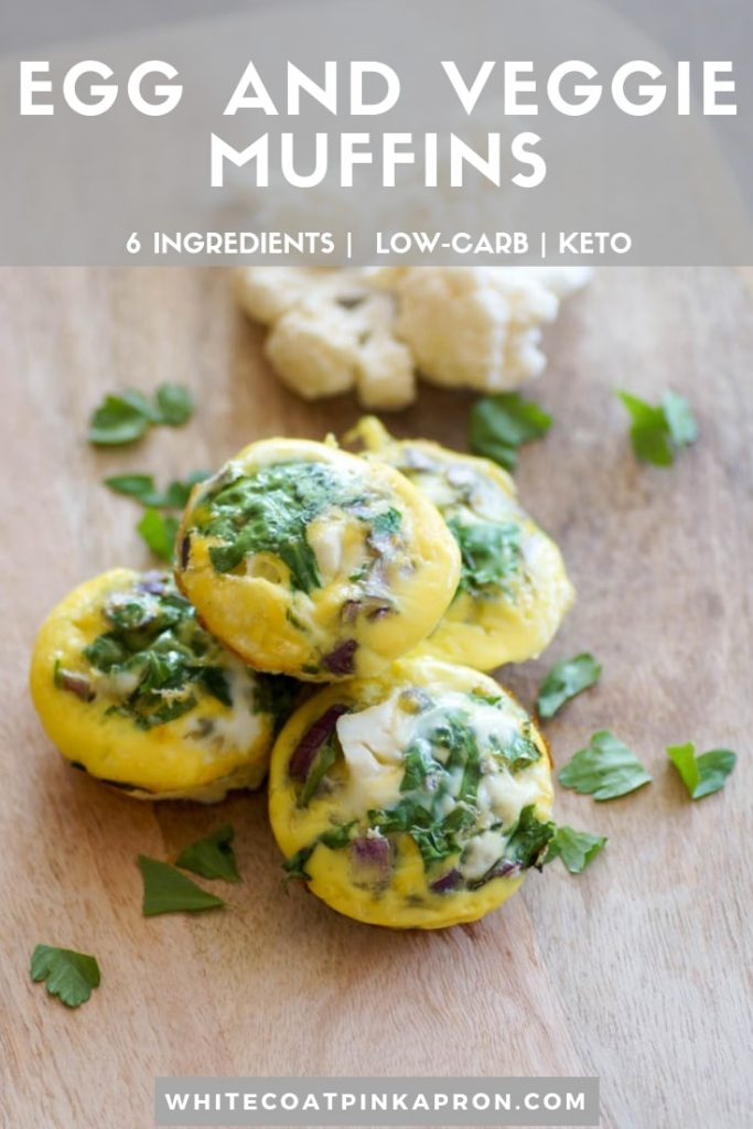 Egg and Veggie Muffins are an easy, low-carb, kid-friendly breakfast that you can adapt for your family. Vegetarian, keto-friendly, 6-ingredients, and endless possibilities.  #eggmuffins #vegetarianbreakfast #ketobreakfast