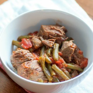 Instant Pot Lamb and Green Beans (Fasoolya)