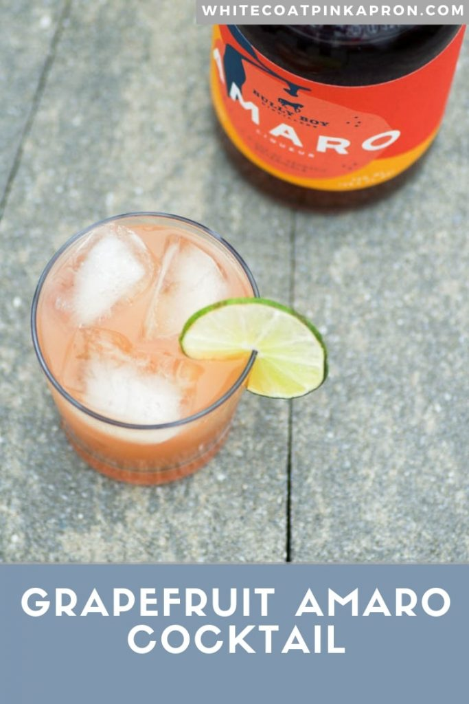 Grapefruit Amaro Cocktail is a light, refreshing, citrusy cocktail with only 3 ingredients. Perfect for spring and summer parties. #amaro #amarococktail #cocktails #bigbatchcocktails