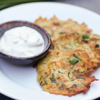 Easy Zucchini Scallion Fritters