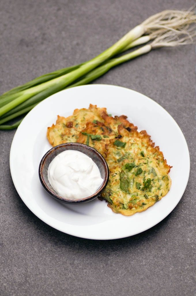 Easy Zucchini Scallion Fritters are one of the best ways to use up all of your seasonal CSA produce! With only 6 ingredients, this prep-ahead recipe is perfect for summer.
