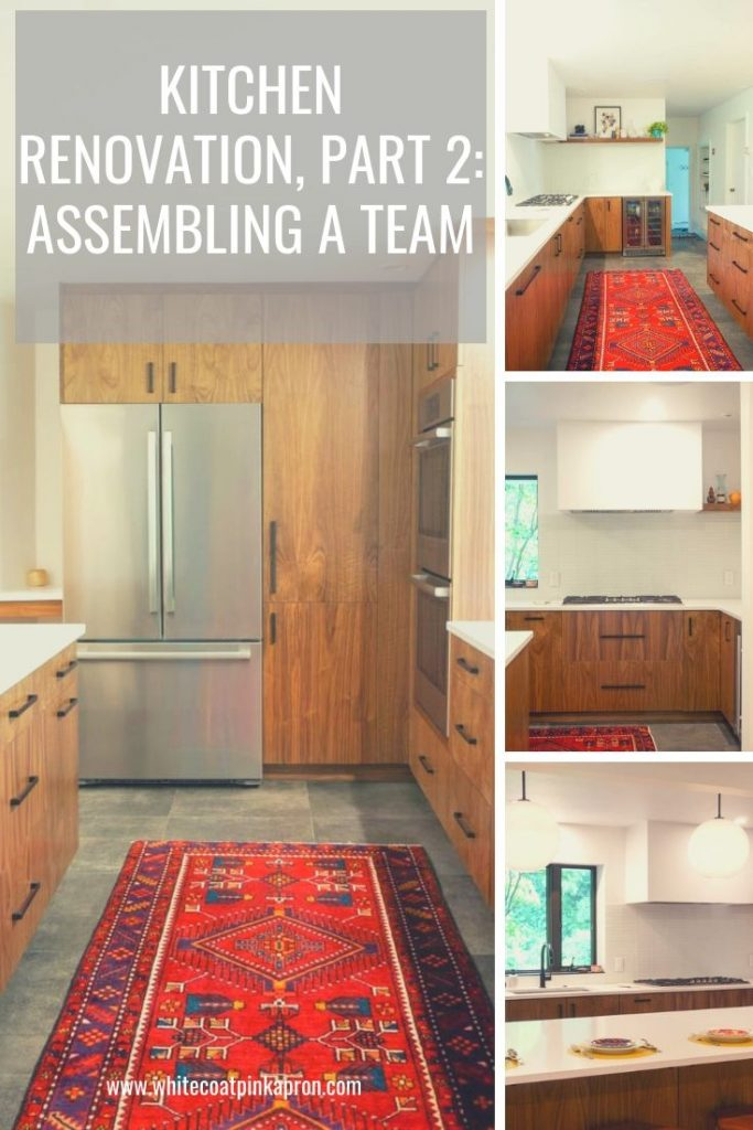 Who is involved in a kitchen renovation? This post outlines the different team members that you'll need for your kitchen renovation, from contractors to architects to electricians, and everyone in between. #kitchenrenovation #whitecoatpinkapron